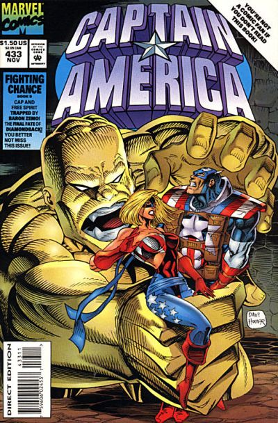 Cover for Captain America (Marvel, 1968 series) #433 [Direct Edition]