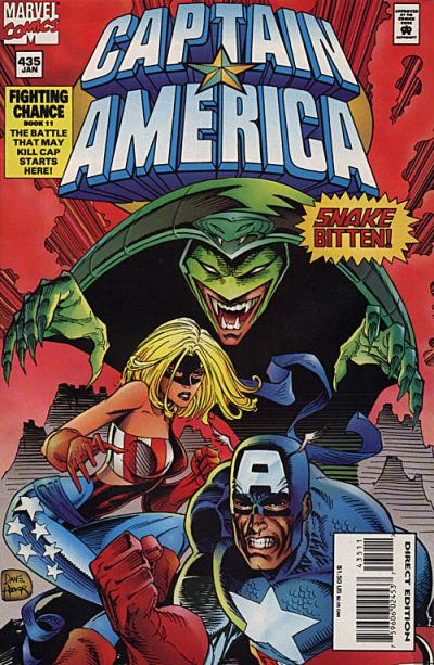 Cover for Captain America (Marvel, 1968 series) #435 [Direct Edition]