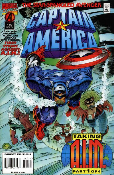 Cover for Captain America (Marvel, 1968 series) #440 [Newsstand Edition]