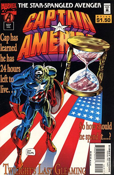 Cover for Captain America (Marvel, 1968 series) #443 [Newsstand Edition]