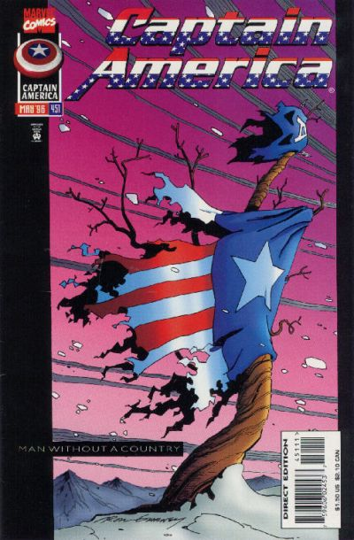 Cover for Captain America (Marvel, 1968 series) #451 [Direct Edition]
