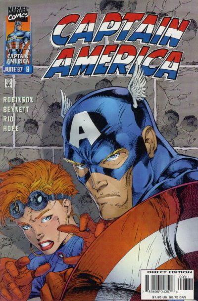 Cover for Captain America (Marvel, 1996 series) #8 [Direct Edition]