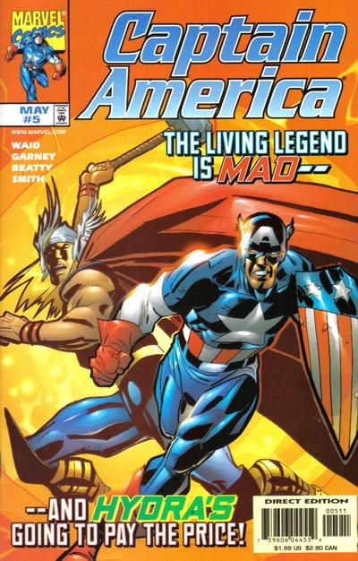 Cover for Captain America (Marvel, 1998 series) #5 [Direct Edition]