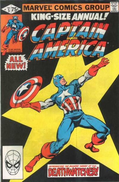 Cover for Captain America Annual (Marvel, 1971 series) #5 [Direct]