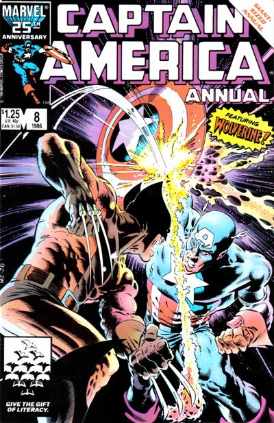 Cover for Captain America Annual (Marvel, 1971 series) #8 [Direct Edition]