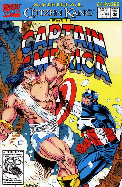 Cover for Captain America Annual (Marvel, 1971 series) #11 [Direct Edition]