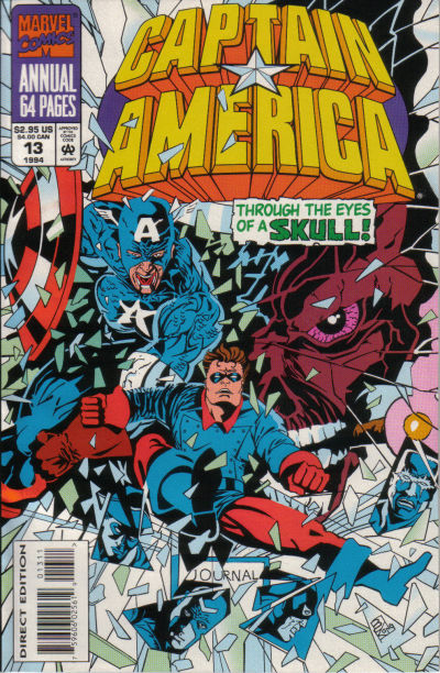 Cover for Captain America Annual (Marvel, 1971 series) #13 [Direct Edition]