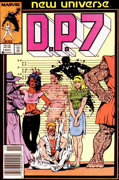 Cover for D.P. 7 (Marvel, 1986 series) #1 [Newsstand Edition]
