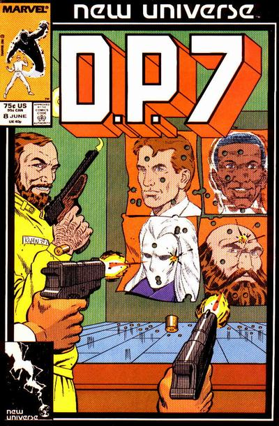 Cover for D.P. 7 (Marvel, 1986 series) #8 [Direct Edition]