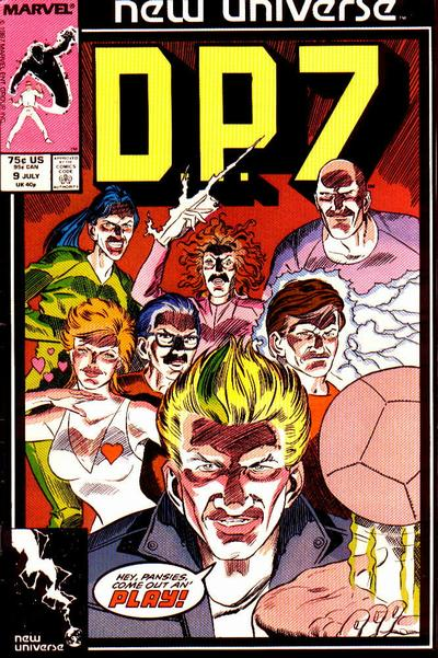 Cover for D.P. 7 (Marvel, 1986 series) #9 [Direct Edition]
