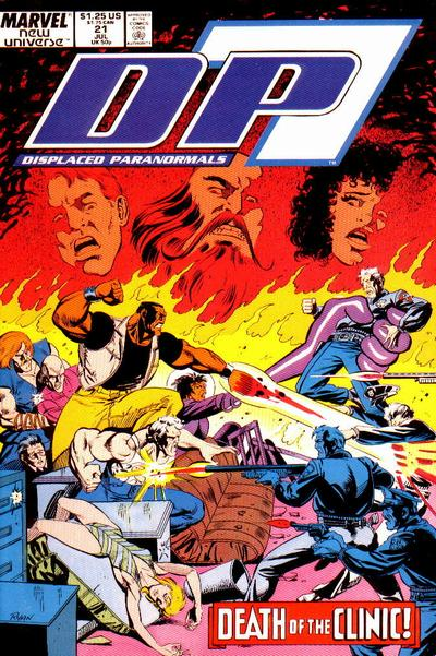 Cover for D.P. 7 (Marvel, 1986 series) #21