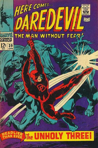 Cover for Daredevil (Marvel, 1964 series) #39