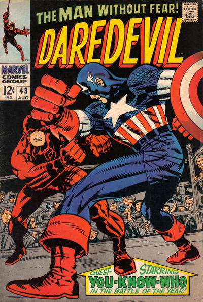 Cover for Daredevil (Marvel, 1964 series) #43