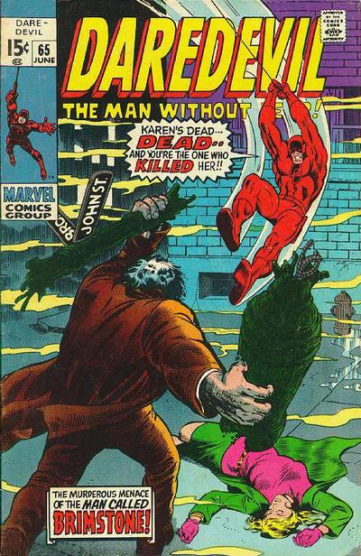 Cover for Daredevil (Marvel, 1964 series) #65 [Regular Edition]