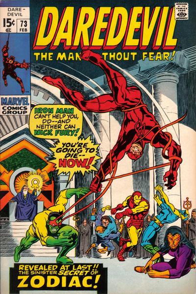 Cover for Daredevil (Marvel, 1964 series) #73 [Regular Edition]