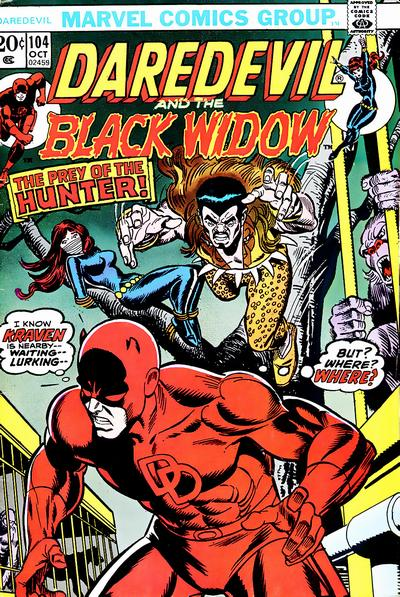 Cover for Daredevil (Marvel, 1964 series) #104 [British]