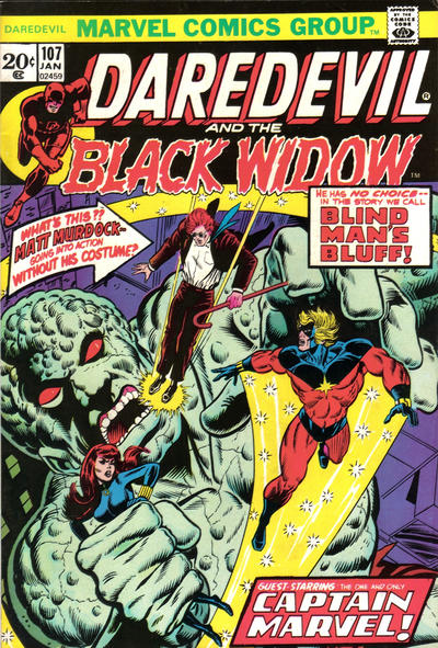 Cover for Daredevil (Marvel, 1964 series) #107 [Regular Edition]