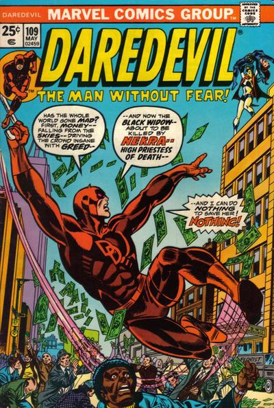 Cover for Daredevil (Marvel, 1964 series) #109