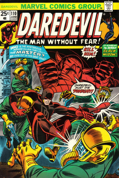 Cover for Daredevil (Marvel, 1964 series) #110