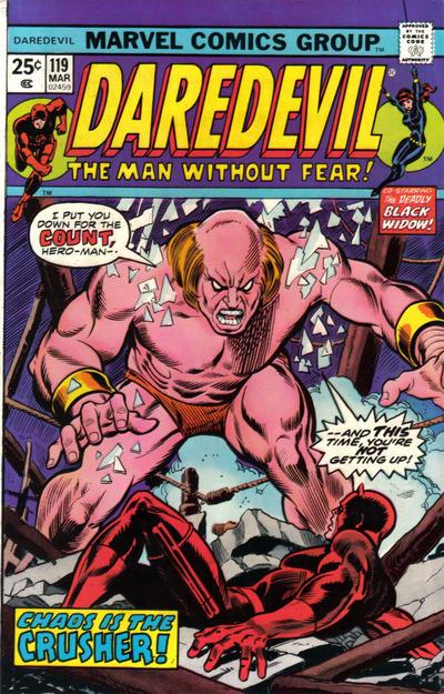 Cover for Daredevil (Marvel, 1964 series) #119 [British]