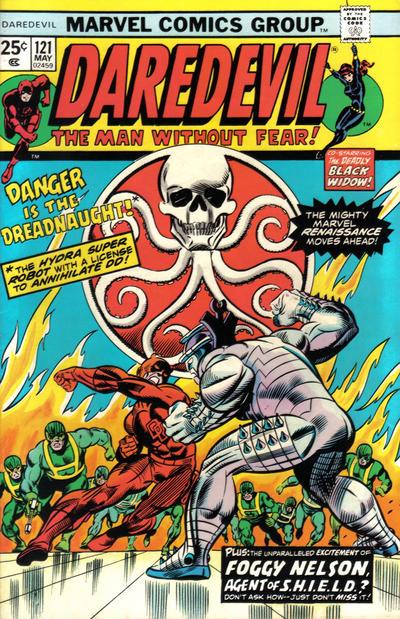 Cover for Daredevil (Marvel, 1964 series) #121 [British]