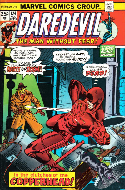 Cover for Daredevil (Marvel, 1964 series) #124 [British]