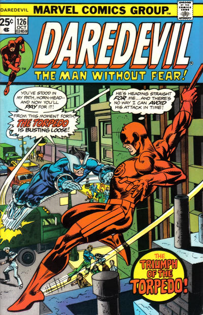 Cover for Daredevil (Marvel, 1964 series) #126 [Regular Edition]