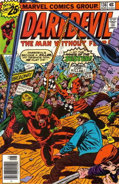 Cover for Daredevil (Marvel, 1964 series) #136 [25¢ Cover Price]