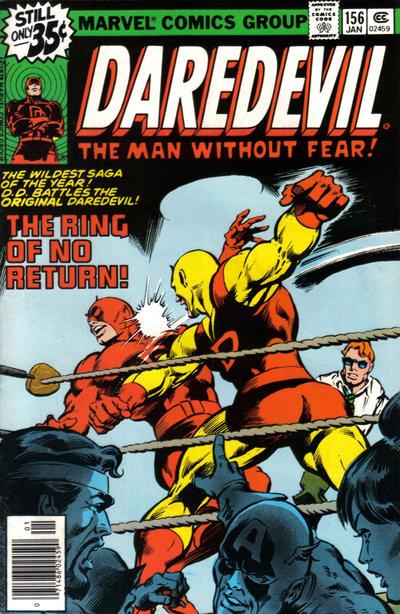 Cover for Daredevil (Marvel, 1964 series) #156 [Regular Edition]