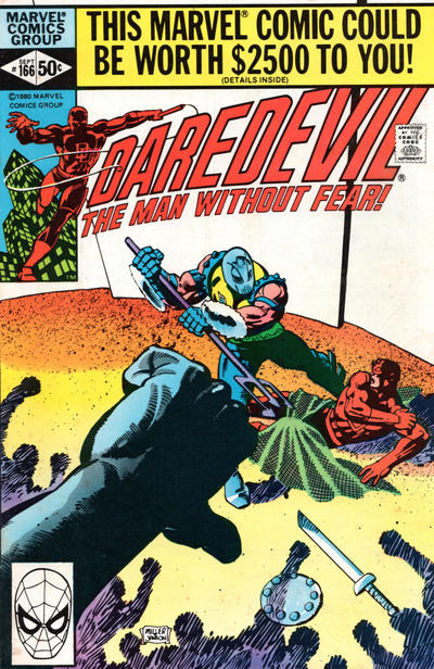 Cover for Daredevil (Marvel, 1964 series) #166 [Newsstand Edition]