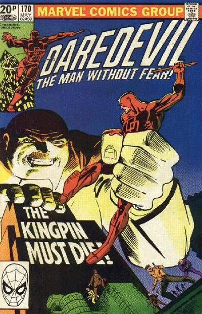 Cover for Daredevil (Marvel, 1964 series) #170 [Direct Edition]