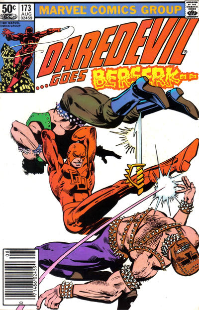 Cover for Daredevil (Marvel, 1964 series) #173 [Direct Edition]