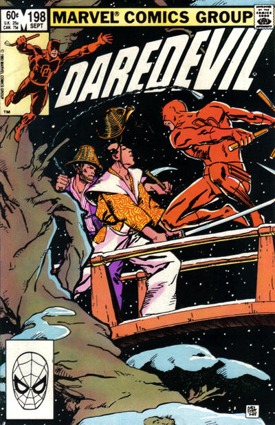 Cover for Daredevil (Marvel, 1964 series) #198 [Direct Edition]