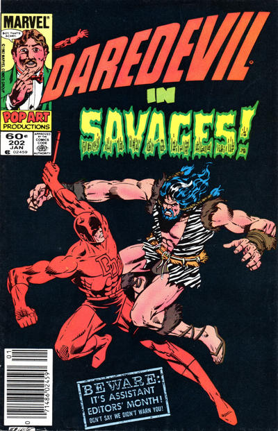 Cover for Daredevil (Marvel, 1964 series) #202 [Newsstand Edition]