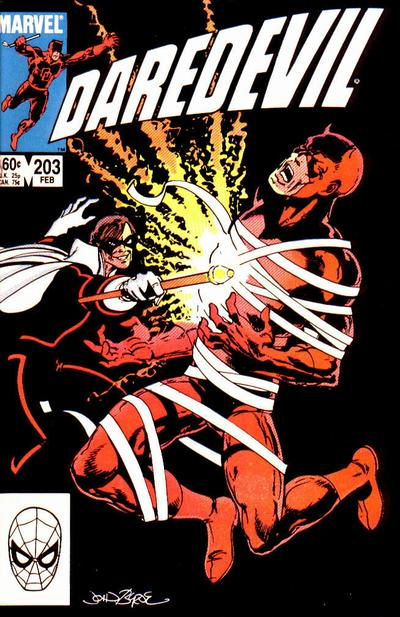 Cover for Daredevil (Marvel, 1964 series) #203 [Newsstand Edition]