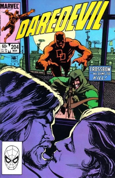Cover for Daredevil (Marvel, 1964 series) #204 [Newsstand Edition]