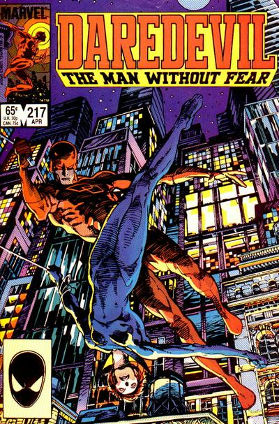 Cover for Daredevil (Marvel, 1964 series) #217 [Direct Edition]