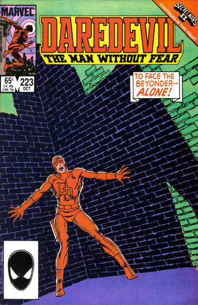 Cover for Daredevil (Marvel, 1964 series) #223 [Newsstand Edition]