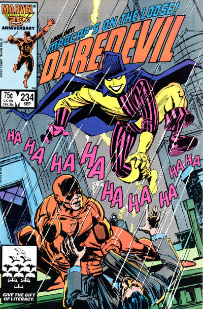 Cover for Daredevil (Marvel, 1964 series) #234 [Newsstand Edition]