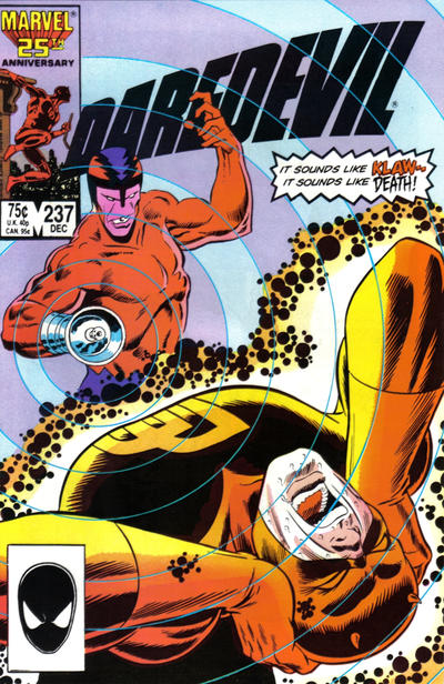 Cover for Daredevil (Marvel, 1964 series) #237 [Newsstand Edition]