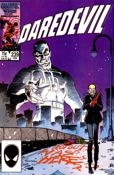 Cover for Daredevil (Marvel, 1964 series) #239 [Newsstand Edition]