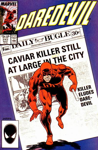 Cover for Daredevil (Marvel, 1964 series) #242 [Newsstand]