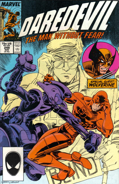 Cover for Daredevil (Marvel, 1964 series) #248 [Direct Edition]