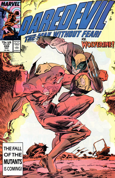 Cover for Daredevil (Marvel, 1964 series) #249 [Direct Edition]