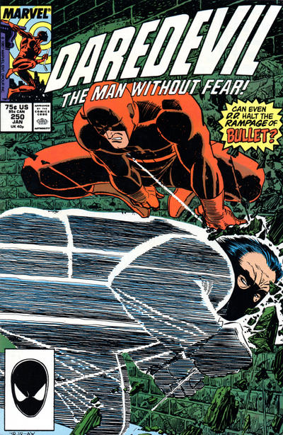 Cover for Daredevil (Marvel, 1964 series) #250 [Direct Edition]