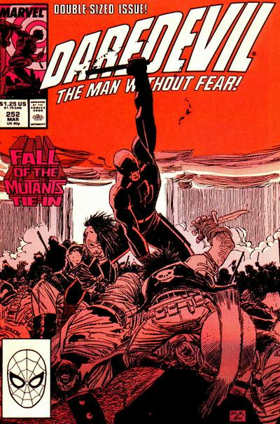 Cover for Daredevil (Marvel, 1964 series) #252 [Direct Edition]