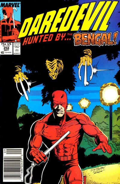Cover for Daredevil (Marvel, 1964 series) #258 [Direct]