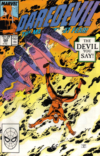 Cover for Daredevil (Marvel, 1964 series) #266 [Direct Edition]