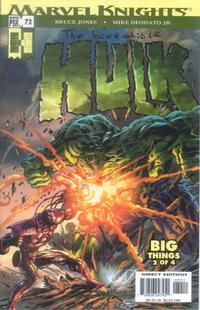 Cover Thumbnail for Incredible Hulk (Marvel, 2000 series) #72