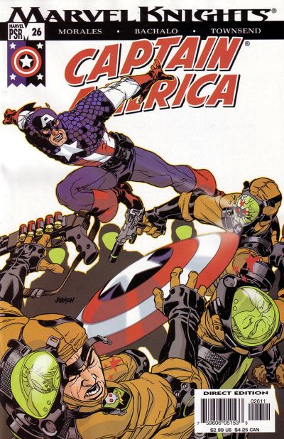 Cover for Captain America (Marvel, 2002 series) #26 [Direct Edition]
